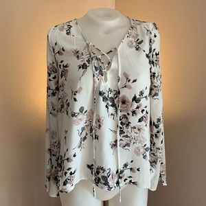Tops - Floral Long Sleeve Blouse